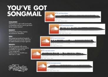 De Geluiderij: YOU'VE GOT SONGMAIL Direct marketing by FHV BBDO Amsterdam