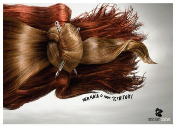 Mac'sim Hair Salon: Office Print Ad by Propaganda