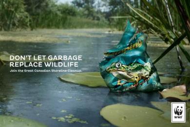 WWF: Frog Print Ad by Traffik