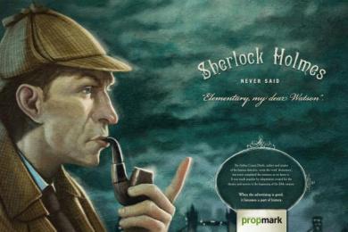 Propaganda & Marketing Newspaper: Sherlock Holmes Print Ad by Age Comunicacoes Sao Paulo