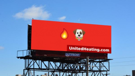 United Heating & Cooling: Hot Dog Outdoor Advert by Trozzolo Kansas City