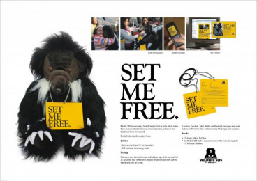 Wildlife Ngo: SET ME FREE Ambient Advert by Contract Advertising India