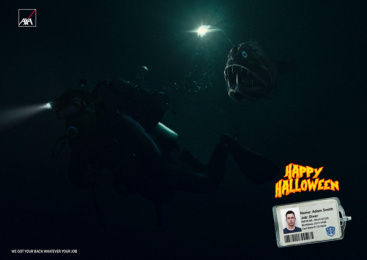Axa Insurance: Happy Halloween, 2 Print Ad by Leo Burnett Cairo