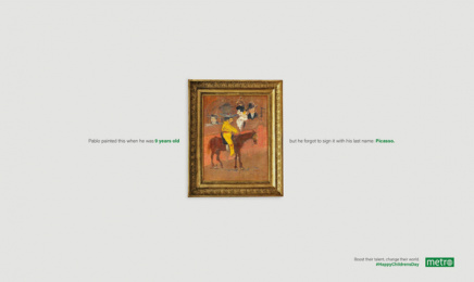 Metro News: Change their world - Picasso Print Ad by Maruri Grey Quito
