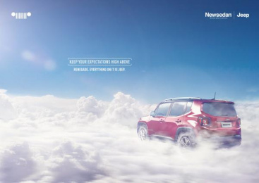 Jeep: Cloud Print Ad by Slogan Propaganda