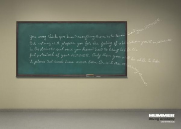 Hummer Driving Academy: BLACK BOARD Print Ad by Leo Burnett Dubai