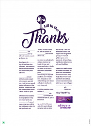 Cadbury: Fill In The Thanks, 4 Print Ad by Ogilvy South India, Wavemaker Creative