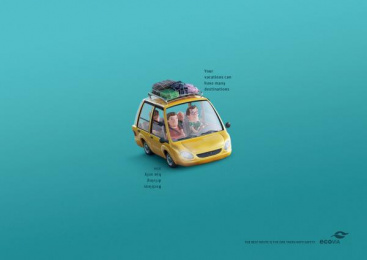 Ecovia: The best route is the one taken with safety, 1 Print Ad by DBPV Cascavel