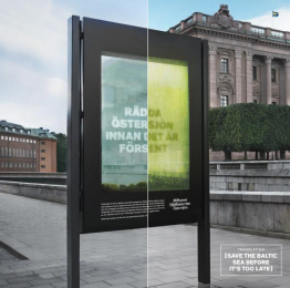The Ngo The Baltic Sea Foundation Sustainable Seas: A Growing Message [image] Outdoor Advert by King
