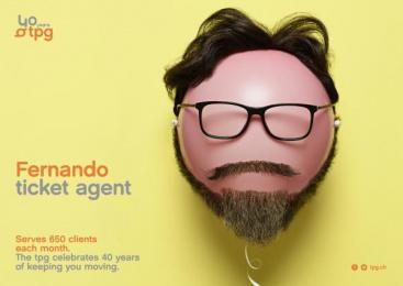 Geneva Public Transports - TPG: Fernando Print Ad by Cavalcade, Federal Studio
