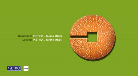Uber: Bun Print Ad by AB&Partners