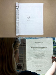 SUAS: When You Can Read Everything, It Changes Everything Print Ad by In the Company of Huskies