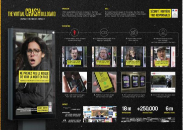 Parisian Road Safety Authority (DRIEA): The Virtual Crash Billboard [image] Outdoor Advert by Serviceplan Paris