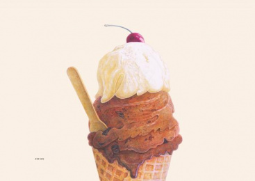 H'or cafe: FOOD TYPOGRAPHY , 1 Print Ad