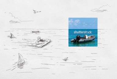 Shutterstock: Castaway Print Ad by Cazar DDB Dominican Republic
