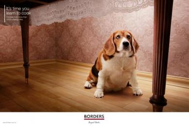Borders Bookstore: Fat dog Print Ad by McCann Erickson Kuala Lumpur