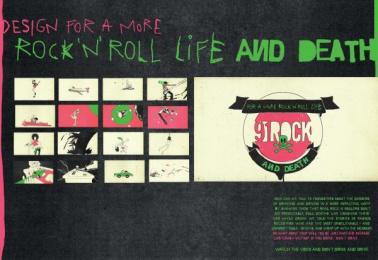 91 Rock: DEATHS Design & Branding by J. Walter Thompson Sao Paulo