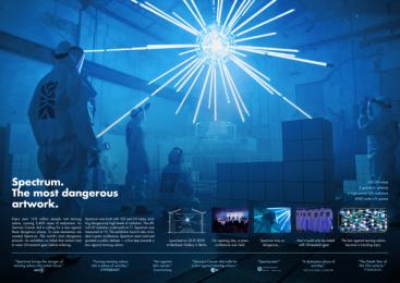 German Cancer Aid: Spectrum - The most dangerous artwork. Print Ad by Heimat Berlin, LIESEL Filmproduktion GmbH / Berlin