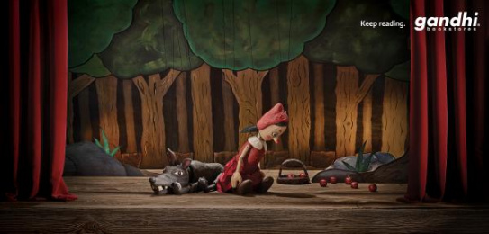 Gandhi Bookstores: RED RIDING HOOD Print Ad by (anonimo) Mexico