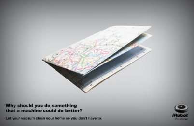 iRobot: Map Print Ad by S.I. Newhouse School of Public Communications Syracuse New York