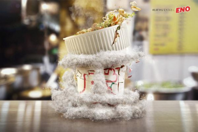 Eno: NOODLES IMPLOSION Print Ad by Ogilvy Sao Paulo