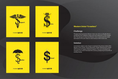 Western Union: IT MATTERS Print Ad by Lonsdale Saatchi & Saatchi Trinidad & Tobago
