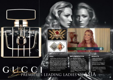 Gucci By Gucci/perfume: GUCCI PREMIERES LEADING LADIES IN ASIA Promo / PR Ad by Mediacom Santa Monica
