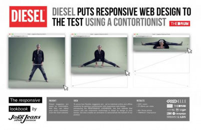 Diesel: The Responsive Lookbook [presentation image] Digital Advert by Fred & Farid Paris