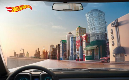 Hot Wheels: Kitchen Town Print Ad by Illusion, J. Walter Thompson Bangkok