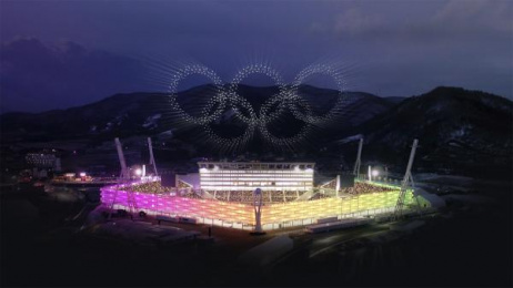 Intel: Intel Drone Light Show At The Olympics [Supporting Images] 6 Ambient Advert