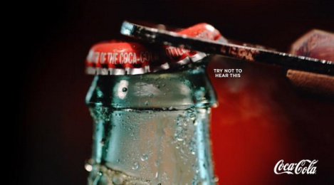 Coca-cola: Try Not To Hear This, 3 Print Ad by David The Agency