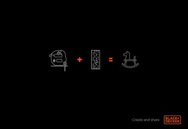 Black & Decker: Wood horse Print Ad by B1G Digital Bogotá