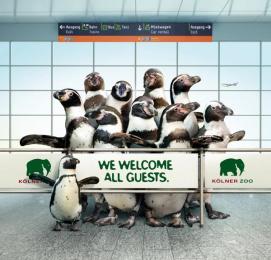 Zoo Cologne: Penguit Print Ad by Preuss Und Preuss Germany