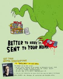 Duellanti: GODZILLA Print Ad by Publicis Italy