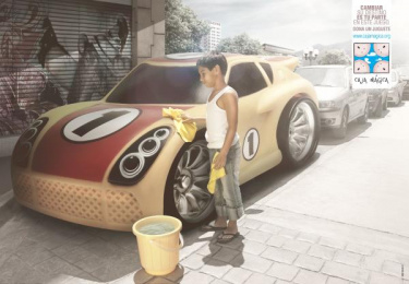 Fundación Caja Mágica: Play the game, 1 Print Ad by Zea BBDO Venezuela