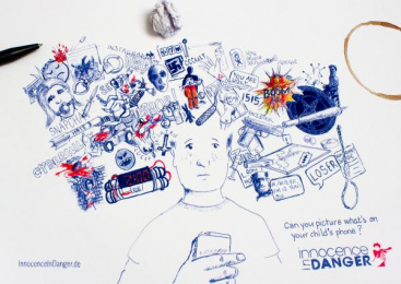 Innocence En Danger: Danger Doodle, 1 Print Ad by Glow