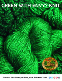 Lion Brand: Green With Envy? Knit Print Ad by No, No, No, No, No, Yes