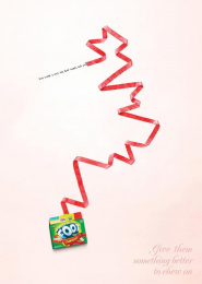 Fruit By The Foot: BAD WORDS Print Ad by Saatchi & Saatchi New York