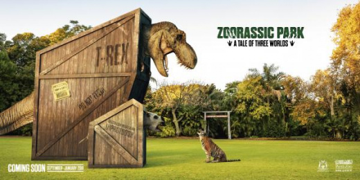 Perth Zoo: Zoorassic Park Print Ad by Gatecrasher Advertising