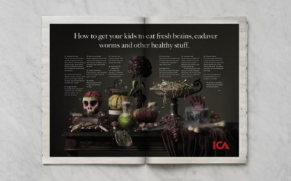 ICA: HEALTHY HALLOWEEN, 1 Print Ad by King
