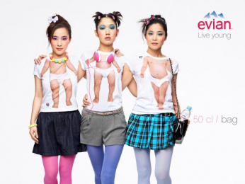 Evian Water: Live Young, 1 Print Ad by BETC Euro Rscg Paris