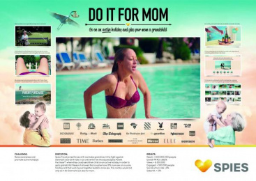 SPIES TRAVELS: Do it for Mom [image] Digital Advert by Gobsmack Productions, Robert/Boisen & Like-minded