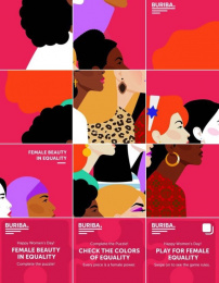 BURIBA.: Female Beauty in Equality - Instagram Puzzle, 2 Print Ad by BURIBA.