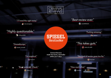Piper Verlag: Criminal Reviews, 2 Digital Advert by Serviceplan Munich