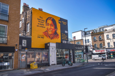 Western Union: The Fast Way to Put a Smile on a Face Outdoor Advert by BBH London, Global Street Art
