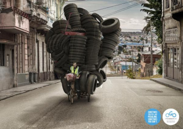 Movielectric: Electric Bicycle Print Ad by Atalah & Viveros, Valparaiso