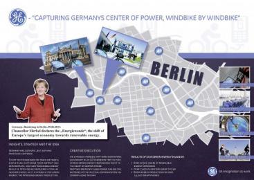 GE: CAPTURING GERMANYS CENTER OF POWER, WINDBIKE BY WINDBIKE Outdoor Advert by OMD Berlin