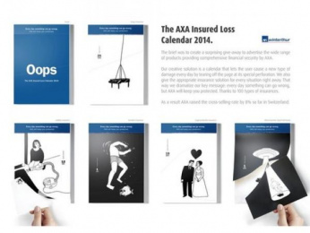Axa Winterthur: The 2014 Insured Loss Calendar Direct marketing by Publicis RedLion Zurich, Publicis Zurich