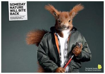 Nature Preservation Campaign: SQUIRREL Print Ad by Grey Copenhagen