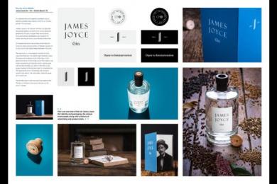 James Joyce Gin: James Joyce Gin, 1 Design & Branding by Shane O'Riordan Design Ireland
